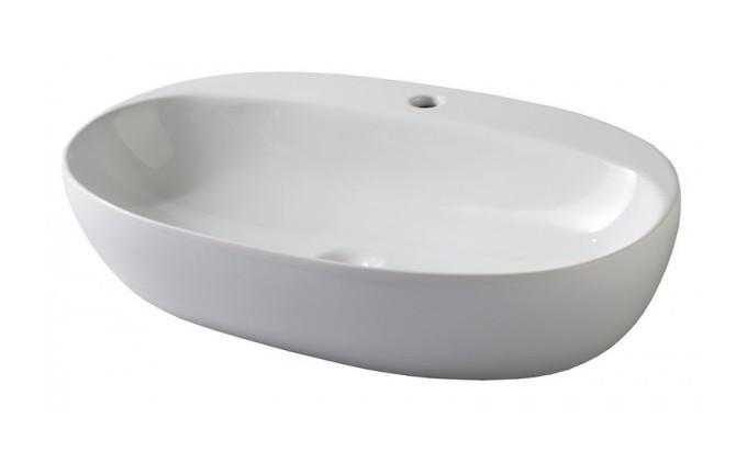 Vasque Céramique à Suspendre Avec Plage Latérale : Vasque fine À poser cÉramique lambrosco azzurra
