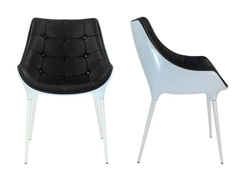 lot de 2 chaises golf birdy noire et blanche. Black Bedroom Furniture Sets. Home Design Ideas