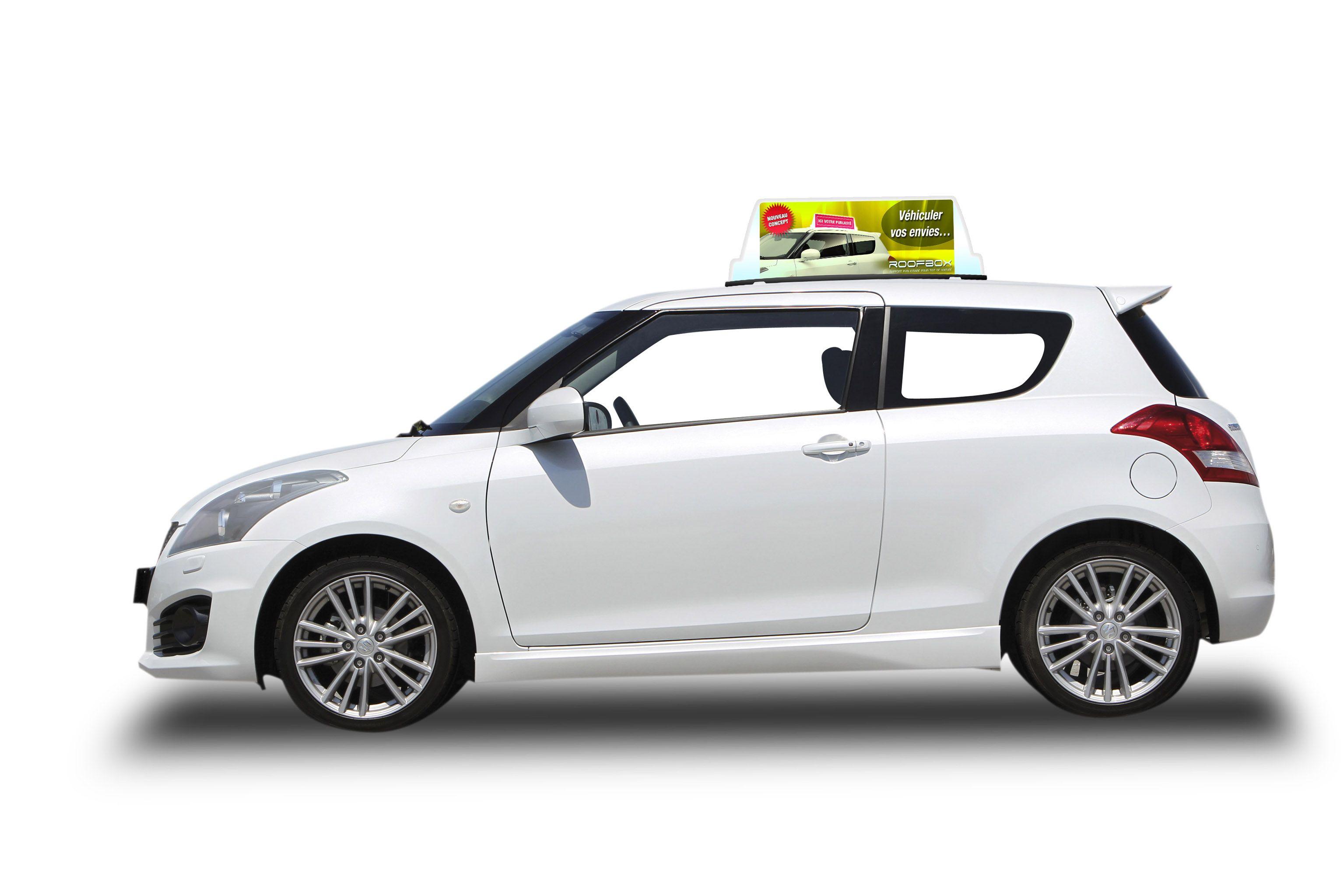 support publicitaire pour toit de voiture roofbox modele easy comparer les prix de support. Black Bedroom Furniture Sets. Home Design Ideas