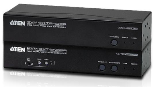 CE774 - DÉPORT KVM VGA CÂBLES CAT.5E/6 USB / MINI-JACK / RS-232