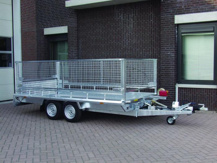 remorque porte engin hapert 3 5t 3 5m 2 essieux. Black Bedroom Furniture Sets. Home Design Ideas