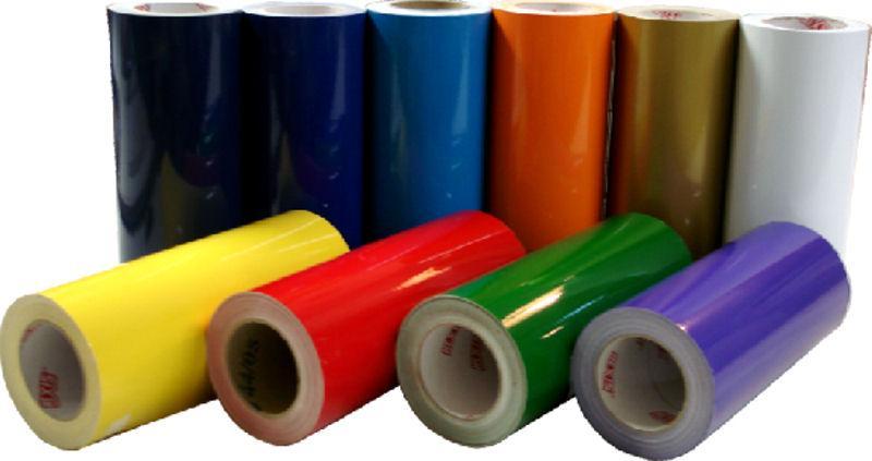 Rouleau vinyle adhesif jaune fonce 61 x 15 ml - Rouleau vinyl adhesif ...