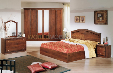 gaia noyer chambre a coucher complete lit armoire. Black Bedroom Furniture Sets. Home Design Ideas