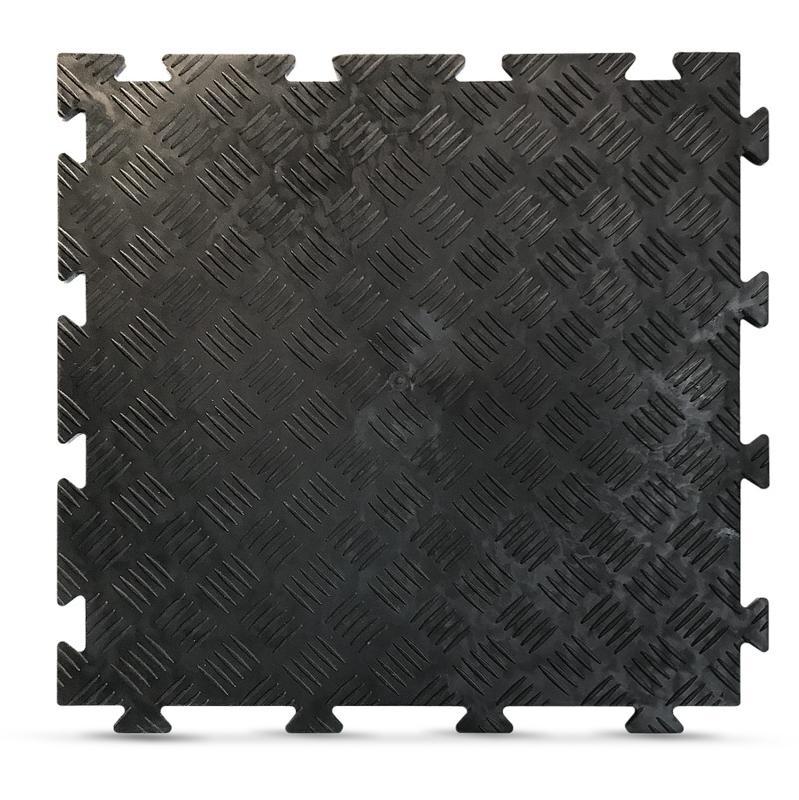 DALLE SOL GARAGE ET ATELIER MULTI-USAGE PVC SOUPLE AUTO-PLOMBANTE (50X50CM)-FINITION CHEVRON - FABULOUS GARDEN