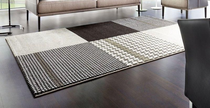 maison tapis patchwork marron taupe 140x200 cm - Tapis Taupe