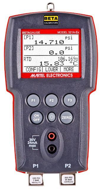 Calibrateurs de pression atex betagauge 311a-ex / 321a-ex
