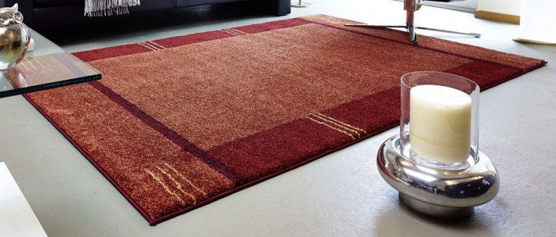 Samoa design tapis patchwork bordeaux et orange - 240x300 cm