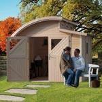 Abri de jardin moderne en bois 7,13m² mellum 3 - karibu abri de jardin bois  5 à 10 m²