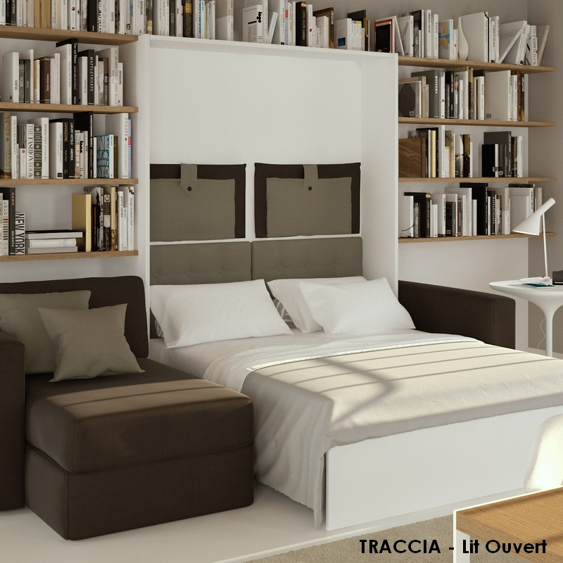 lits escamotables avec canape letplace. Black Bedroom Furniture Sets. Home Design Ideas