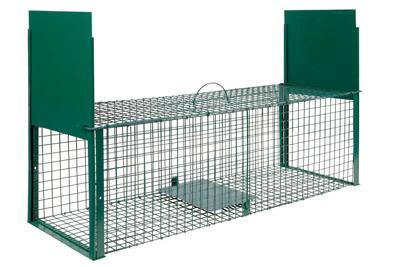 Cage double entree 100x30x30cm for Animaux nuisibles maison