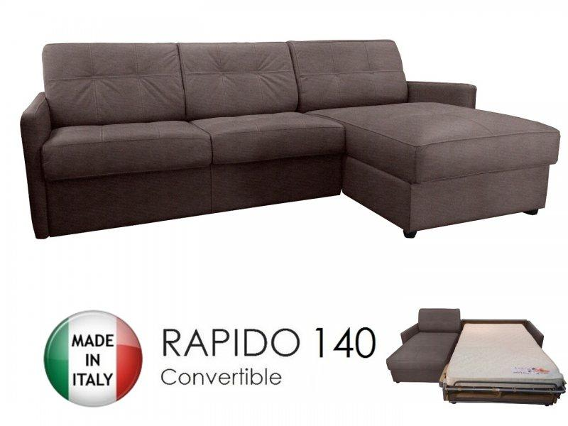 canape d 39 angle reversible ouverture rapido cube 140 cm. Black Bedroom Furniture Sets. Home Design Ideas