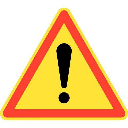 panneau de signalisation de chantier temporaire ak14 signaux de danger pour chantier. Black Bedroom Furniture Sets. Home Design Ideas