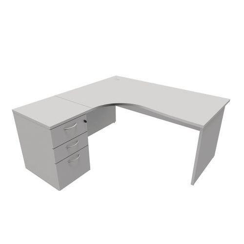 bureau compact caisson pi tements panneau gris manutan comparer les prix de bureau compact. Black Bedroom Furniture Sets. Home Design Ideas