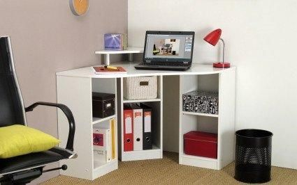 bureau d 39 angle maxi blanc. Black Bedroom Furniture Sets. Home Design Ideas