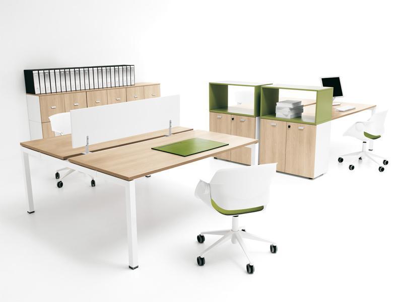 Bureau bench modulit 2 personnes p80 cm comparer les prix for Bureau 2 personnes