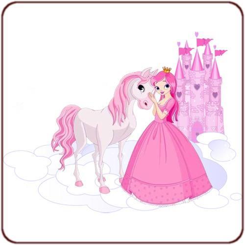 Sticker princesse et cheval - Princesse cheval ...