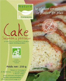 CAKE SALé SAUMON-POIREAU RéF : 01051