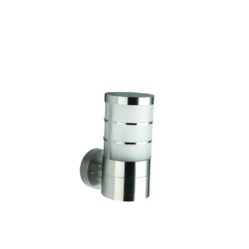 Calgary applique d 39 ext rieur inox h22 5cm luminaire d for Luminaire inox exterieur