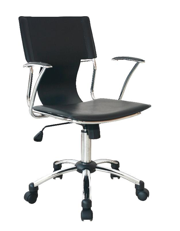 fauteuil de bureau design home pvc noir comparer les prix de fauteuil de bureau design. Black Bedroom Furniture Sets. Home Design Ideas