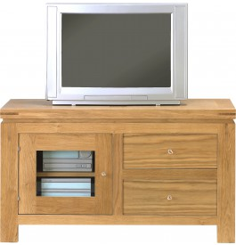 meuble tv hifi chene 2 tiroirs 1 porte vitree. Black Bedroom Furniture Sets. Home Design Ideas