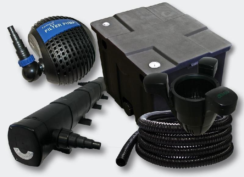 Kit de filtration de bassin 12000l stérilisateur 72 watts pompe skimmer 4216488