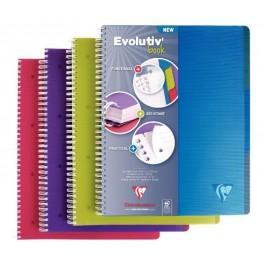 CAHIER SPIRALE CLAIREFONTAINE EVOLUTIV BOOK - A4+ PETITS CARREAUX  PERFORÉES 240 PAGES