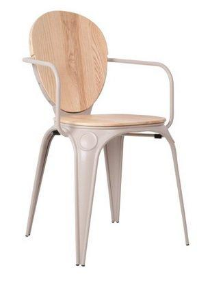 Chaise zuiver louix grise for Chaise zuiver