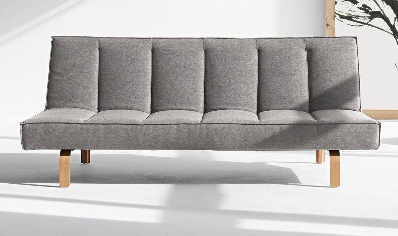Odin par innovation living canape design gris clair for Canape lit avec meridienne