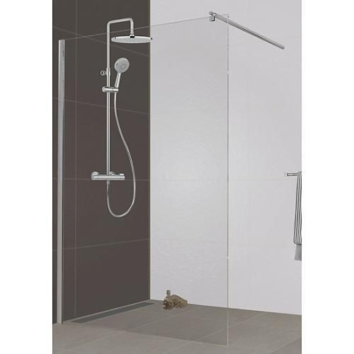 paroi de douche open verre transparent profil argent 140 cm. Black Bedroom Furniture Sets. Home Design Ideas