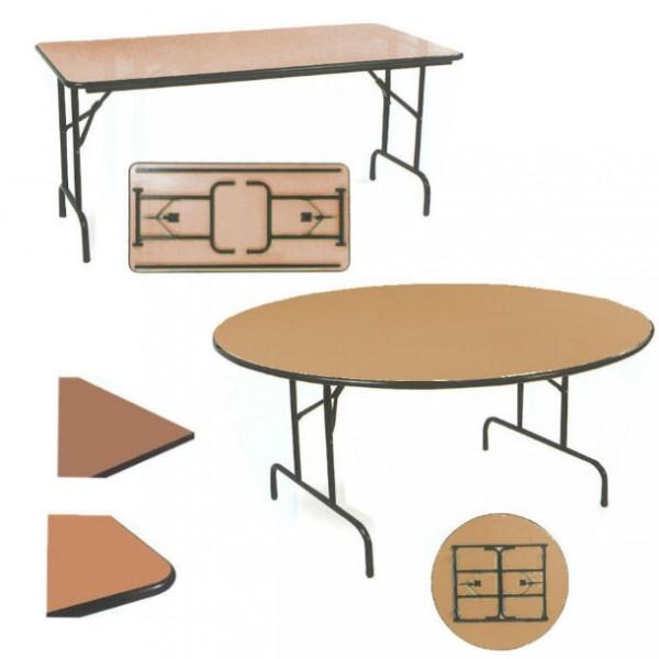 Table pliable demi lune chant anti choc - Pietement pour table pliante ...