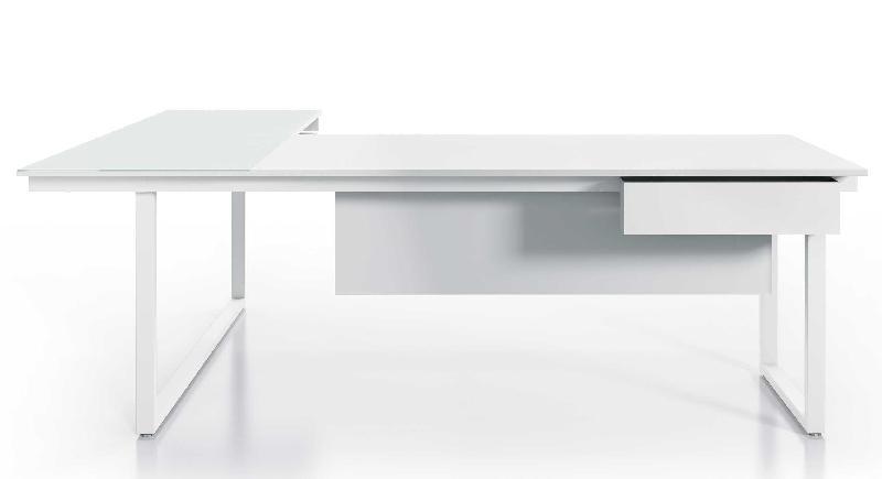 Mon bureau design produits de la categorie bureau en l for Bureau blanc avec retour