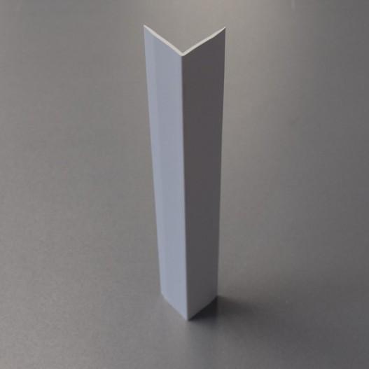 CORNIÈRE PVC 40 X 40MM GRIS CLAIR - ÉPAISSEUR 2.5 MM, LONGUEUR 3 M