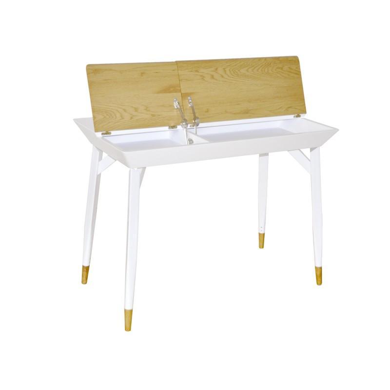 Bureau design en métal bastian 105cm blanc - paris prix