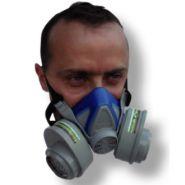 Demi masque silicone nu double cartouches