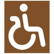 20534 - Pochoir handicapé - Virages - 550 x 650 mm