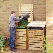 Cache-conteneurs et abris poubelle - serres et abris - en bois traité