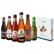 BOX DECOUVERTE 6 BIERES ET CHOCOLATS BELGE 6*0.33L