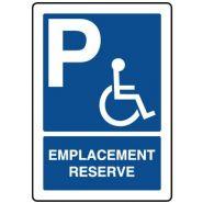 25874 - Panneau place handicapé - VIRAGES - Dimension 350 x 500 mm
