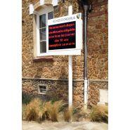 Gamme Electronique - Panneaux lumineux à LED - ALOES RED -  7 lignes, 20 caractères par ligne
