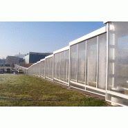 Passages couverts - abris et services - structure mécano-soudée en extrusion d'aluminium
