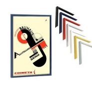 Cadre déco pour affiche 42 x 59,4 cm coloris : noir, bleu, rouge, alu anodisé, blanc, doré, chromé