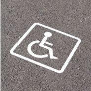 Parking pmr - direct signaletique - pochoir en pvc de 5 mm représentant un fauteuil roulant