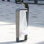 Courbe sack holder - Poubelle publique - Glasdon -  80 litres