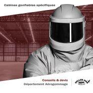 CABINE GONFLABLE SABLAGE / GRENAILLAGE / AÉROGOMMAGE