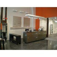 Comptoir pour magasin - A4 Inside - Caisse acier découpe laser
