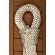 MS-213 - Polyester rope - Amarres - Corderie meyer sansboeuf - Cordage 3 torons double torsion - Charge de rupture : 340 à 6600 daN