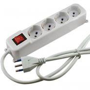 Rampe électrique - francehopital sas - 4 prises avec interrupteur - pclpm