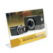 Porte-visuel incliné avec porte-brochure plexi sens paysage - réf.4081