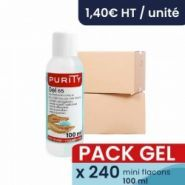 Gels hydroalcooliques - Purity - Pack de 240x flacons