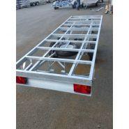 Châssis nu remorque - châssis de remorque - sud ouest remorques - 500 à 3500 kg 1/2/3 essieux